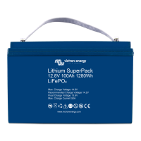 Victron Lithium SuperPack 12.8V/100Ah Lithium Battery with M8 Insert - High Current