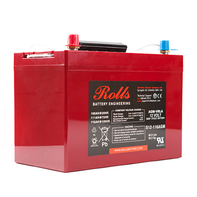 Rolls RB-S12-116AGM - Deep Cycle VRLA battery