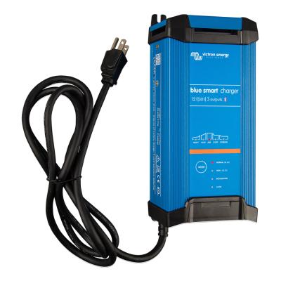Victron Blue Smart IP22 Battery Charger 12V/30A/120V 3 Output with NEMA 5-15 Socket