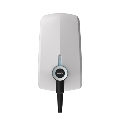 EVBox E1320-A15062-11.2 - Elvi EV Charge Point 7.4kW - Single Phase with WiFi+3G & 6m Cable - White
