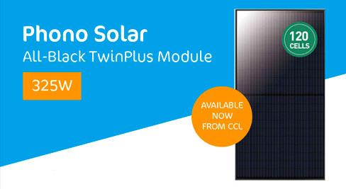Phono Solar's Stylish, All-Black TwinPlus 325W Module